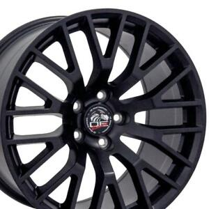 18x9 Rim Fits Ford Mustang 2015 Gt Style Satin Black Wheel 10036 Oew Set