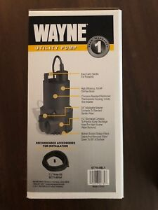 Wayne Rup160 51 6 Gpm 1 1 4 Submersible Thermoplastic Utility Pump Nib