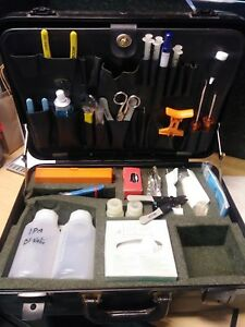 Siecor Corning Fiber Optic Tool Test Kit Set W Hard Case 350 Accessories