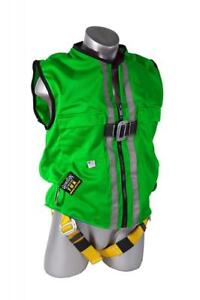 Guardian Fall Protection 02220 Green Mesh Construction Tux Harness Large