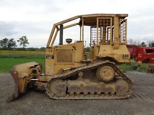 Caterpillar D4h Ii Crawler Dozer Orops W Sweeps Vg Undercarriage 7 069 Hours