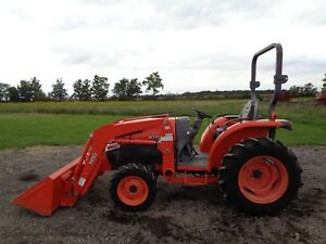 2007 Kubota L3240 Tractor Ansung Front Loader 4wd 392 Hours