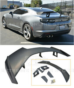For 16 Up Chevy Camaro Abs Primered Black Zl1 1le Rear Trunk Lip Spoiler