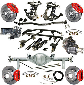 Ridetech Coilover 4 Link Kit Currie Rear End Wilwood Disc Brakes 13 12 Red