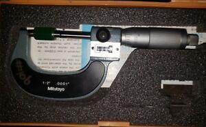 Mitutoyo Digit Outside Micrometer 193 212 Machinist Tool 1 2 M825 2v