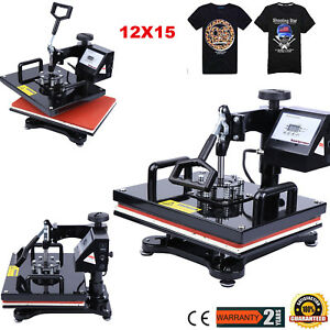 15 x12 Swing Away Heat Press Transfer Digital Sublimation Machine T shirt Diy