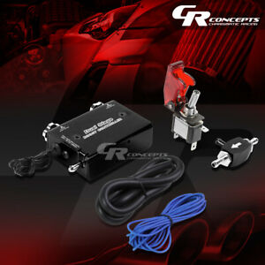 Electronic Dual Stage Black Manual Turbo Boost Controller Launch Switch Hose Kit