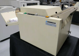 Morgana Plockmatic 60t Booklet Maker Warranty Duplo Horizon Mbm