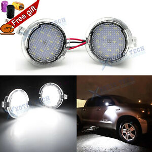 White Led Side View Under Mirror Puddle Lights For Toyota Tundra Sequoia 2007