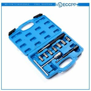 Diesel Injector Seat Cleaner Tool 10pc Diesel Injector Seat Cutter Set Auto Set
