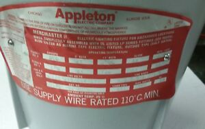 Appleton Mermaster 11 Lpbl400 mt 400w Explosion Proof Light Fixture
