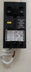 Circuit Breaker Square D Homeline Arc Fault 50 Amp 2 pole Gfci Plug In Home