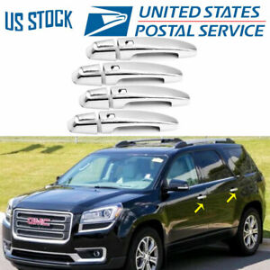 For 2017 2019 Gmc Acadia W 4 Smart Key Cut Chrome Door Handle Covers
