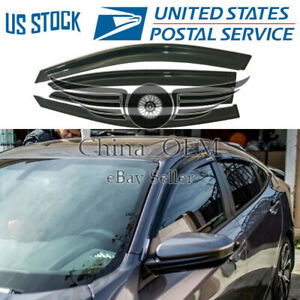 For 2013 2014 2015 2016 2017 Honda Accord Rain Deflector Window Visors