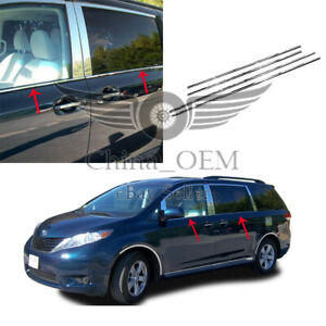 For 2011 2017 Toyota Sienna Stainless Steel Window Sills