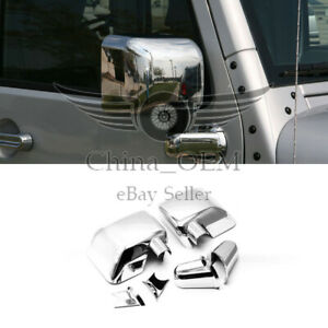 For 2006 2007 2008 2009 2010 2011 2012 2018 Jeep Wrangler Chrome Mirror Covers