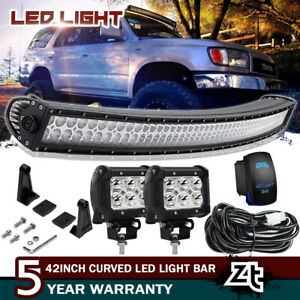 For 96 02 Toyota 4runner tacoma 40 42inch Curved Led Light Bar Upper Roof Mount