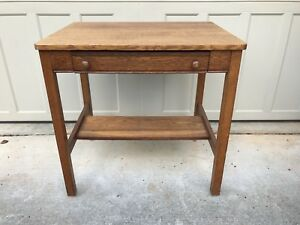 Quartersawn Oak Writing Desk By Cadillac