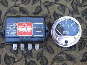 Vintage Sun Rc 85 Tachometer With Mount And Eb 9a Transmitter Tach 8500 Rc85