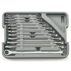 Gearwrench 12 Piece Metric Extra Long Gearbox Box End Ratcheting Wrench Set