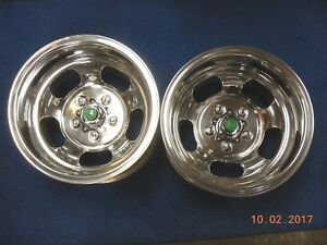 Vintage Polished 15x10 U s Indy Slot Mag Wheels Chevelle Ss Mags Chevy Van Gto