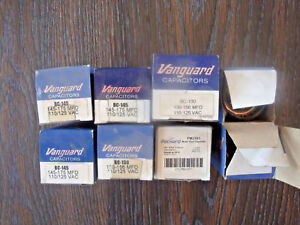 Lot Of 8 Vanguard packard Capacitors 110 125 Vac