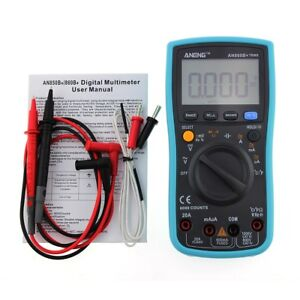 Meter Digital New 1 Pcs Ang860b Backlight Ac dc Ammeter Voltmeter Ohm Portable