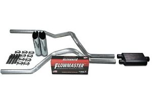 Chevy Gmc 1500 88 95 2 5 Dual Truck Exhaust Kits Flowmaster 40 Series Slash Tip