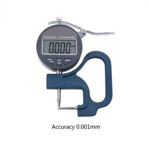 0 001mm Digital Thickness Gauge Meter 10mm Portable Lcd Electronic Micrometer