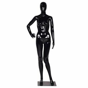 Female Mannequin Display Full Body Realistic Plastic Clothes Base Head Stand New