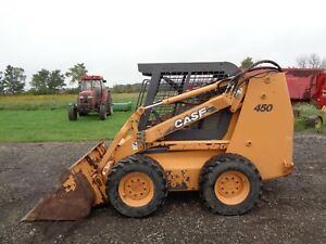 2005 Case 450 Skid Steer Loader Orops H pattern Controls 877 Hours