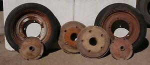 Ford 9n Tractor Front Wheel Weights And Hubs And Wheels