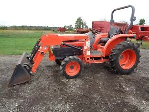 Kubota L3130 Tractor 4wd Shuttle Shift Woods Front Loader 638 Hours