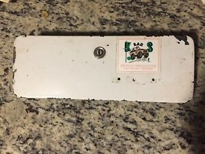 1974 Bonco Ford Glove Box Door With Lock And Used