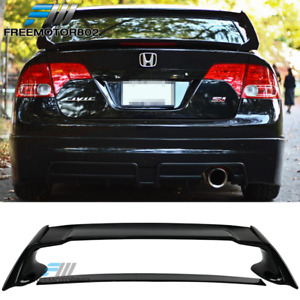 Fits 06 11 Honda Civic Sedan Mu Glossy Black Trunk Spoiler Wing