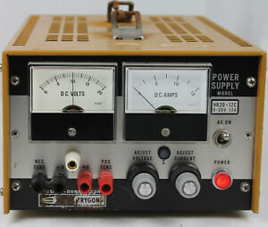 Vintage Systron Trygon Hr20 12c Power Supply 0 20 Volts 12amps