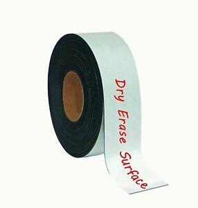 Mastervision Fm2118 Magnetic Dry Erase Surface 2 X 50 White Tape Roll new