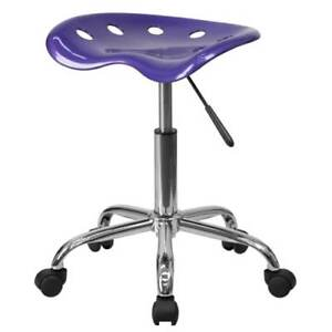 Delacora Lf 214a violet gg Violet 17 w Metal Swivel Seat Stool W Tractor Seat
