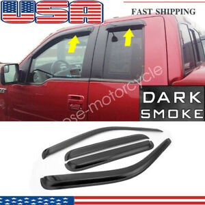 4pcs Vent Window Visor For Ford F 250 F 350 Super Duty Extended Cab 1999 2012 Us