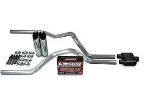 Ford F 150 Truck 04 14 2 5 Dual Exhaust Kits Flowmaster Super 10 Slash Tip
