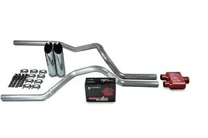 Ford F 150 Truck 87 97 2 5 Dual Exhaust Kits Cherry Bomb Extreme Slash Tips