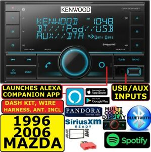 Kenwood Fits 96 06 Mazda Double Din Bluetooth Usb Car Stereo Radio Pkg Opt Xm
