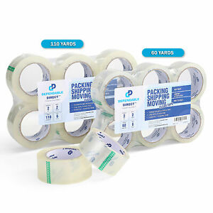 Industrial Grade Clear Packing Tape 60 110 Yds 2 To 3 1 Mil Thick 6 Pk 36 Pk