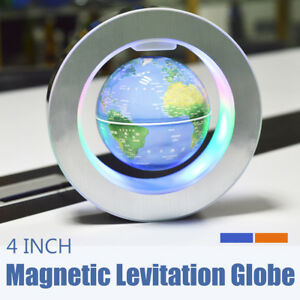 4 Magnetic Levitation Earth Globe Led Lamp Self Rotating Floating Globe Light