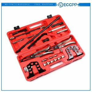 Steel Valve Spring Compressor Stem Seal Ohv Ohc Installer Remover Tool Set