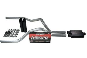Chevy Gmc 1500 Truck 15 18 2 5 Dual Exhaust Kits Flowmaster Super 44 Black Tip