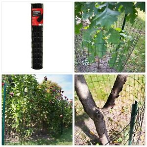 3 x50 Garden Fencing Galvanized Welded Wire Mesh Fence Metal Barrier Roll Black