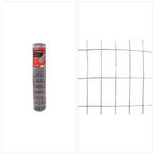 4 X 50 Ft Garden Fencing Welded Wire Mesh Fence Chicken Barrier Metal Roll Black