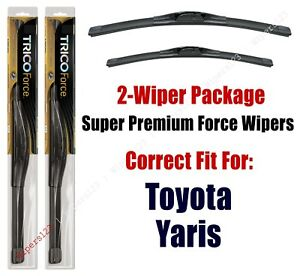 Wipers 2 pack Hi performance Fits 2016 Toyota Yaris 25220 170