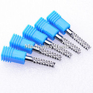 5pcs 6mm 42mm 3a carbide Pcb Corn Teeth End Mill Milling Cutter Cnc Router Bits